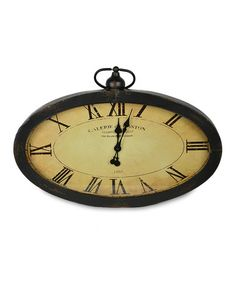 Loving this Antique-Style Wall Clock on #zulily! #zulilyfinds