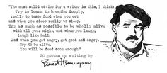 Ernest #Hemingway on how to be a #writer. pic.twitter.com/Jhs7eTXIMV