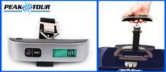 Ya no batalles más cada que haces tu maleta y te pasaste del peso permitido. Compra una práctica Báscula para equipaje de Peak Tour. www.clickandbrands.com