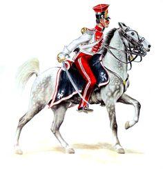 """FRANCE - """"Cornet of the late Polish lancers in the Chevau-légers Lanciers de la Garde Imperiale, 1809"""""""
