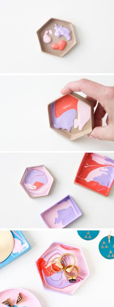 And then make a super-cool jewelry dish to store it in. | 21 Amazingly Easy 5 Minute DIY Projects