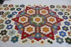 Image result for hexagon quilts pictures