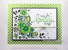 Copic card using the Paper Smooches - Blossoming Buds stamp set. Made by Kelli