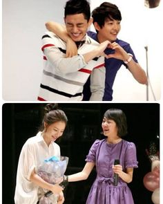 Both couples are bestfriend and get best couple award for their drama. #songjoongki & #yoohahin for #sungkyunkwanscandal #moonchaewon & #moongeunyoung  for #painterofthewinds  #chaeki