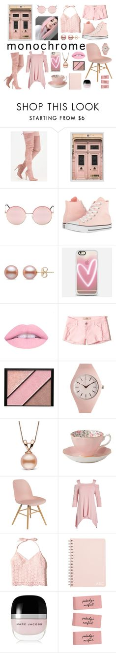 """Monochrome In Pastel"" by oswingaradex ❤ liked on Polyvore featuring Pottery Barn, Vans, Converse, Casetify, L.A. Girl, Hollister Co., Elizabeth Arden, Aéropostale, Royal Albert and Casa Lee"