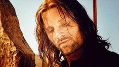 Aragorn (gif). Ok, I will admit... Aragorn is quite handsome...