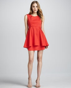 Long-Peplum Tank Dress by Patterson J. Kincaid at Neiman Marcus. Nice Dresses, Formal Dresses, Party Dresses, Fashion Outfits, Womens Fashion, Fashion Trends, Tank Dress, Lady In Red, Peplum