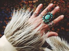 Instagram media sugarshack_styling_co - My treasures. That little peace sign ring on my pinky finger is Zavian's, I haven't taken it off! Missing my baby so much it hurts... The big turquoise is by my friend @paloma_stipp and the rose Quartz on my pointer is a cheap and cheerful Tibetan silver piece and stacking rings on my wedding finger from my Mumma...