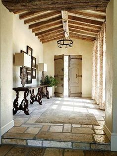 warm and beautiful. great doors. like the tile and grout width and color.
