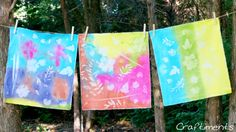 From Craftiments:  Tutorial for fake sun prints - fun for kids