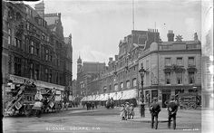 Sloane Square, 1905. Photographer Christina Broom was one of Londons earliest female press photographers, best known for producing a series of London street views for sale as postcards. Although her pictures mainly show buildings and places, some, such as this shot of Sloane Square and Kings Road, document daily life in London.