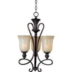 Maxim Infinity 3-light Oil Rubbed Bronze Chandelier (Infinity 3-Light Chandelier), Black