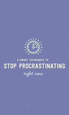 On the Creative Market Blog - 5 Smart Techniques to Stop Procrastinating Right Now