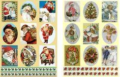 New Dufex Christmas Stickers Sheet Santa Vintage Retro Victorian Card Making