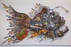 Angler Cyberfish. 'Raptor' rappresenta l'ultimo livello evolutivo della specie 'cyberfish' dotati di un cibernetico apparato visivo sono programmati per conquistare le profondità degli abissi