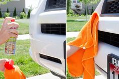 Get rid of dead bugs on the front of your car with cooking spray.