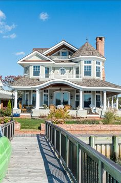 Coastal home exterior - just lovely! More home designs: http://www.homechanneltv.com/