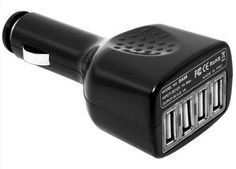 4 Ports USB Car Charger Adapter for iPod MP3 MP4 PDA for iPad for iPhone for Samsung BC021B+