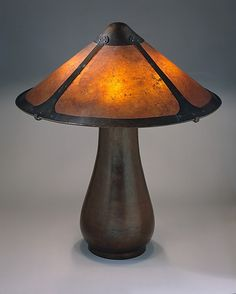 Lamp - Dirk Van Erp (1862–1933)   Date:     ca. 1912–15  Geography:  San Francisco - Copper base, mica and copper shade