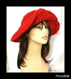 Red Crochet Hat Womens Hat Steampunk Hat Crochet Wide Brim Hat Women Red Hat Society Inspired Winter Hat FRONTIER Extra Wide Brim Hat by strawberrycouture on Etsy  Red Crochet Hat Womens Hat Steampunk Hat Crochet Wide Brim Hat Women Red Hat Society Inspired Winter Hat FRONTIER Extra Wide Brim Hat 60.00 USD by #strawberrycouture on #Etsy  MUST SEE! http://ift.tt/1BCooOm (Unique Womens Crochet & Knit Hats Scarves Patterns) Strawberry Couture on Etsy is about having fun with a crochet hook and…