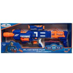 Kalabazoo Battle Blaster Toy Gun With 20 Soft Bullets - Blue | Buy Online in South Africa | takealot.com