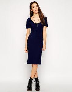 Daisy Street Ribbed Midi Dress