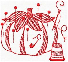 EMBROIDERY MACHINE PATTERN REDWORK SEWING  EMBROIDERY