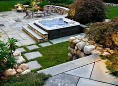 free standing hot tub. Hot Tub Backyard Pinterest Sunken Backyards And Enchanting Free Standing Ideas  Best idea home design
