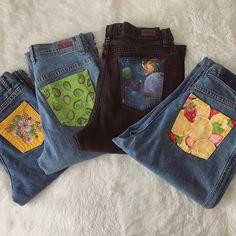 ᴛ ʜ ᴀ ᴠ ʏ 𓃰 {taw Painted Clothes, Painted Jeans, Diy Jeans, Diy Clothing, Custom Clothes, Denim Kunst, Diy Fashion, Ideias Fashion, Ootd Fashion