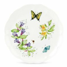 Lenox Butterfly Meadow Tiger Swallowtail 10-3/4-Inches Dinner Plate by Lenox. Save 28 Off!. $17.95. Microwave, freezer and dishwasher safe. Butterfly Meadow Tiger Swallowtail plate. Part of the number one quality casual pattern by Lenox. Based on the artistry of Louise Le Luyer. 10-3/4-Inch in diameter. Crafted of Lenox fine porcelain. Butterfly Meadow Tiger Swallowtail Dinner Plate by Lenox. tiger swallow, with its distinctive yellow and black coloring, provides a bright focal poin...
