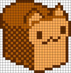 Kitty Bread Perler Bead Pattern / Bead Sprite