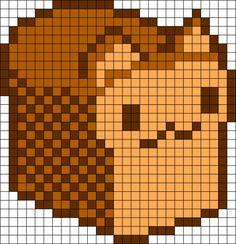 Kitty Bread Perler Bead Pattern / Bead Sprite
