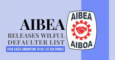 The AIBEA on Saturday released the list of wilful defaulters who owe Rs.1,47,350 crore to public sector banks Adani Group, Kingfisher Airlines, Bank Of Baroda, Central Government, Commercial Bank, We Are A Team, Buddha Quote, Bank Of India, Economics