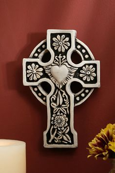 Ballyshannon Cross - Donegal,Ireland - At the center is the sacred heart of Jesus with rays of light surrounding it. Celtic Pride, Celtic Symbols, Celtic Art, Celtic Crosses, Celtic Knots, Celtic Cross Tattoos, Mayan Symbols, Religious Symbols, Egyptian Symbols