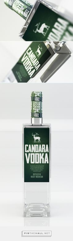 Candara Vodka on Behance curated by Packaging Diva PD. Candara Vodka was introduced to the market in 2011 mint flavour which is equally intense in taste and aroma.
