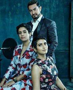 Bolly & Co Magazine — Aamir Khan, Fatima Sana Shaikh and Sanya Malhotra. Hottest Female Celebrities, Indian Celebrities, Bollywood Celebrities, Bollywood Actress, Celebs, Bollywood Images, Bollywood Stars, Desi Boyz, Indian