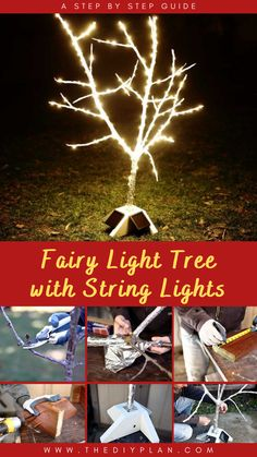 Many of us wish we could have outdoor lights glowing year-round; sadly, knotted electric cords and high energy bills hold us back. Thankfully, technology has advanced. Today, I'd like to share how I made a DIY fairy light tree with Starbright's solar-powered string lights that could stay on year-round. Having solar-powered lights eliminates the need for long electric cords. #diy #freeplans #projects #homedecor #woodproject #gardening #doityourself #homeimprovement #fairylight #homegarden