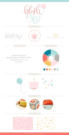 Blush & Sky Party Planning Brand Design Reveal by graphic designer and logo lettering designer, Holly McCaig Creative.