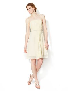 Ruched Bodice Strapless Dress by Donna Morgan at Gilt