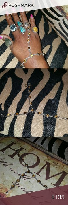 Vintage Tigers Eye Sterling Silver Ring Bracelet This is a vintage gem...This piece is so awesome it is authentic sterling silver stamped .925...I also have the matchimg necklace to this one have not posted it yet tag me if interested in both... Jewelry Bracelets