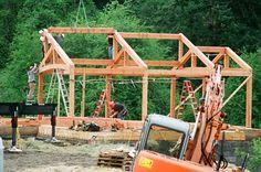 timber frame house, eco-friendly
