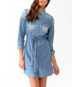 Belted Denim Shirtdress | $29.80. Ship it by www.canubring.com