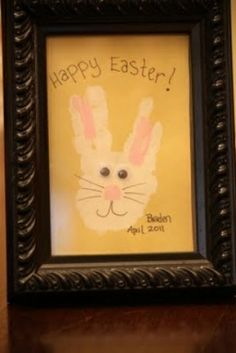 Easter bunny footprint craft