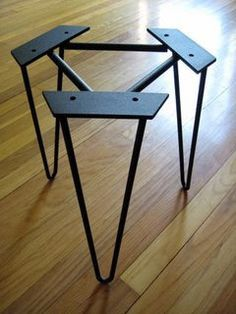 End metal table legs Hairpin Legs Furniture Legs, Steel Furniture, Industrial Furniture, Furniture Projects, Custom Furniture, Wood Projects, Furniture Design, Furniture Buyers, Furniture Removal