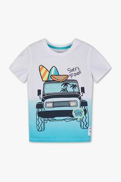 Short sleeve T-shirt - organic cotton Stylish Toddler Girl, Toddler Boy Fashion, Boys Fall Fashion, Mens Fashion Wear, Boys Summer Outfits, Boy Outfits, Boys Shirts, Cool T Shirts, Baby Boy T Shirt