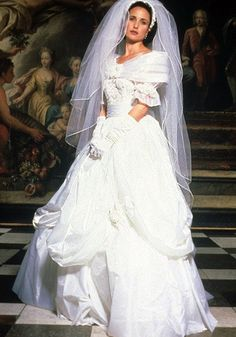 Four Weddings and a Funeral. (1994). | 48 Of The Most Memorable Wedding Dresses From The Movies