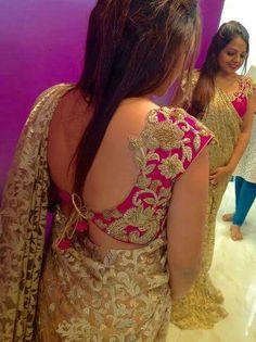 Choli Designs, Saree Blouse Designs, Blouse Styles, Blouse Desings, Maggam Work Designs, Indian Blouse, Blouse Models, Indian Beauty Saree, Western Dresses