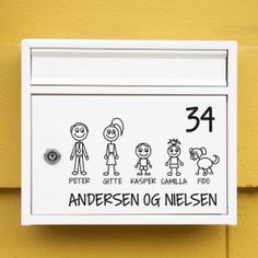 #1 Familie postkasse sticker wallsticker