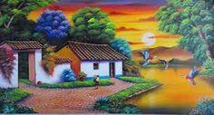 Resultado de imagen para paisajes para dibujar pintados