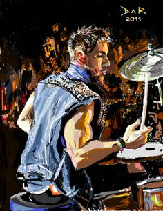 Shannon Leto in action. digital drawing.